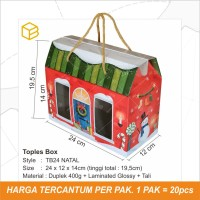 Box Toples Kue Kering Packaging Natal Christmas Hampers | TB24 NATAL