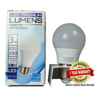 Lampu LED LUMENS 3w 3 watt 3watt putih TERANG MURAH, GROSIR 110++ Lm/W