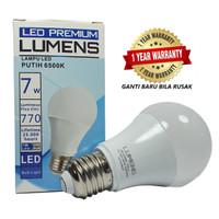 Lampu LED LUMENS 7w 7 watt 7watt putih TERANG MURAH, GROSIR 110++ Lm/W