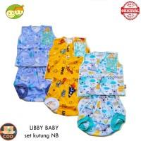 Libby NB New Born Setelan Kutung Bayi Baru Lahir 3 sd 6 Bulan Piyama