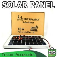 Solar Panel Tenaga Surya - papan Solar Panel 10W polycrystalline