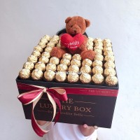 Hadiah Box Cokelat Boneka Premium / Hadiah Unik Ucapan CUSTOM