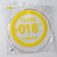 Senar Gitar Listrik Plain No 3 014 / 016 (gitar akustik juga bisa)