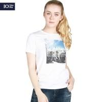 Kaos Lengan Pendek Wanita / Borough Offwhite Tee 12056P4OW - 10PM
