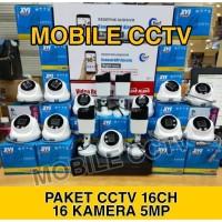 PAKET CCTV 16 CHANNEL 16 KAMERA 5MP BEST QUALITY LENGKAP 2TB