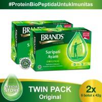 Twin Pack BRAND'S Saripati Ayam Original 42 Gr (isi 12 botol)