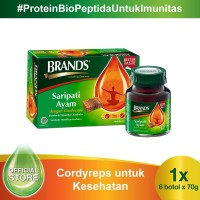 BRAND'S Saripati Ayam dengan Cordyceps 70 Gr (6 botol)