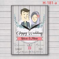 kado, pajangan dinding jam kado wedding special gift h-181- HIJAB
