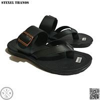 STEXEL THANOS Sandal Casual Jepit Variasi Strap Kulit Sintetis Premium