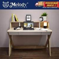 Melody-Furniture Meja Kerja Meja Belajar ASPEN DESK Sonoma oak