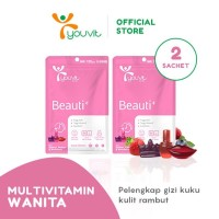 Youvit Gummy Multivitamin Beauti+ Multivitamin [14 Gummy/ 2 Sachet]