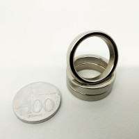 MAGNET NEODYMIUM RING DONUT SUPER KUAT 25x20x5mm SILVER SUPER STRONG