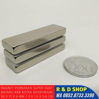 Neodymium Magnet Kotak Batang Kuat Super Strong 50x15x6mm