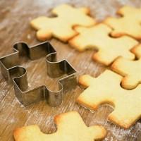 Cookies Biscuit Cutter Stainless Steel Cetakan Besi Kue Biskuit Puzzle