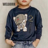 Welborn Kids Sweater Bulldog Navy Anak Laki