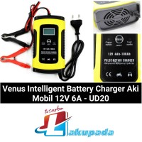 Venus Intelligent Battery Charger Aki Mobil 12V 6A