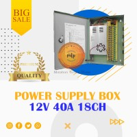 POWER SUPPLY CCTV BOX ADAPTOR 12V 40A 18Ch / PSU box panel 18 channel