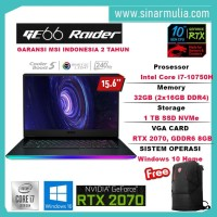 "MSI GE66 Raider 10SF-225ID i7-10750H 1TB SSD 32GB RTX2070 15,6"" 240Hz"