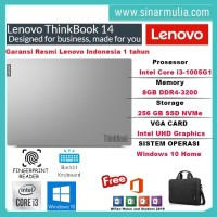 Laptop Lenovo Thinkbook i3-1005G1 8GB 14 Inch WIN10 HOME+OHS ORIGINAL