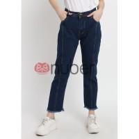 Celana Panjang Wanita Jeans Boyfriend Rumbai Navy Non Stretch Exp-Ivy