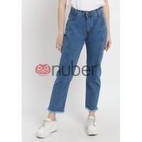 Celana Panjang Wanita Jeans Boyfriend Rumbai Blue Non Stretch Exp-Ivy
