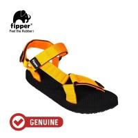 Fipper Trekker / Sandal Wanita / Black-Mustard