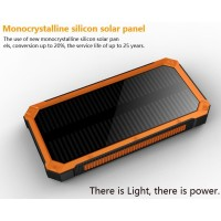 Power Bank Tenaga Surya 20000mAh Solar Panel Lampu Emergency 2 USB
