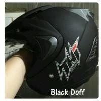 Helm Half Face Rookie Black Doff Helm SNI Murah Terlaris
