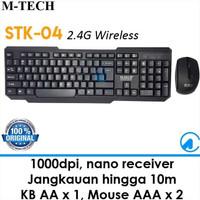 Paket Wireless Keyboard & Mouse MTech STK-04 Murah Bagus