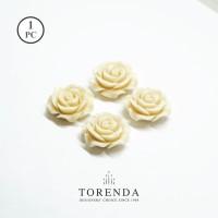 Torenda Rose Acrilyc Small Broken White (col.2) - Bunga Rose /PCS