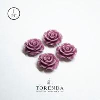 Torenda Jewelry Rose Acrylic Small Ungu ( col 19 ) - Bunga Rose / PCS