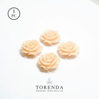 Torenda Jewelry Rose Acrilyc Small Peach (col.5) - Bunga Rose / PCS