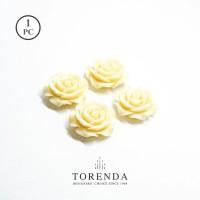 Torenda Jewelry Rose Acrilyc Broken White ( col 4 ) - Bunga Rose / PCS
