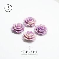 Torenda Jewelry Rose Acrilyc Small Ungu (col.58) - Bunga Rose / PCS