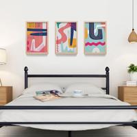 Poster Full Color wall Decor Abstrak Minimalis - Poster Bingkai Kayu