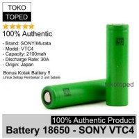 Authentic Battery 18650 Sony VTC4 2100mAh | original baterai vtc 4