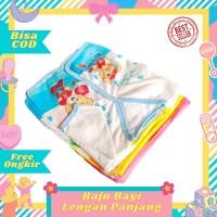 1 Lusin / 12 pcs Baju Bayi Lengan Panjang baru lahir newborn murah