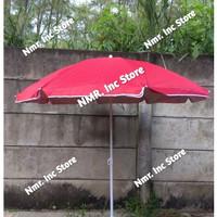 Payung tenda pantai 180cm Polos Double (2 lapis/2 helai) Anti UV.