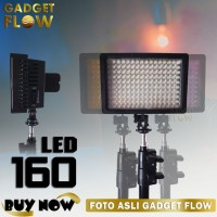 FULLSET Video Light 160 LED with Baterai & Charger & Tripod