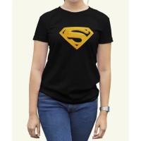 Kaos Distro Baju Tshirt Logo Superman gold