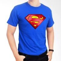 Kaos Distro Baju Tshirt Logo Superman Biru