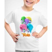 Kaos Baju anak trolls world tour
