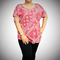 Atasan Wanita Kaos Batik JUMBO Sonoma Grosir Promo Sisa Ekspor K104