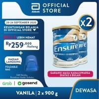 Ensure Vanila 900 g Susu Nutrisi Dewasa Rendah Laktosa - 2 klg