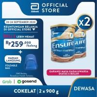 Ensure Coklat 900 g Susu Nutrisi Dewasa Rendah Laktosa - 2 klg
