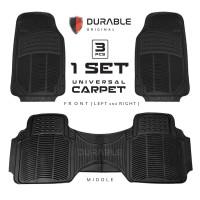 TOYOTA INNOVA DURABLE Karpet Karet PVC 3 Pcs Black