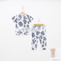 Lunaci White Ethnic Pyjamas Kids