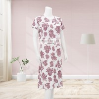 Lunaci Pink Ethnic Breastfeeding Dress