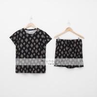 Lunaci Black Ethnic Short Pyjamas