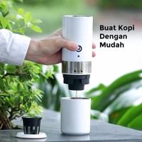 Espresso Portable Mesin Coffee Maker Alat Kopi Mini Ringan - Putih